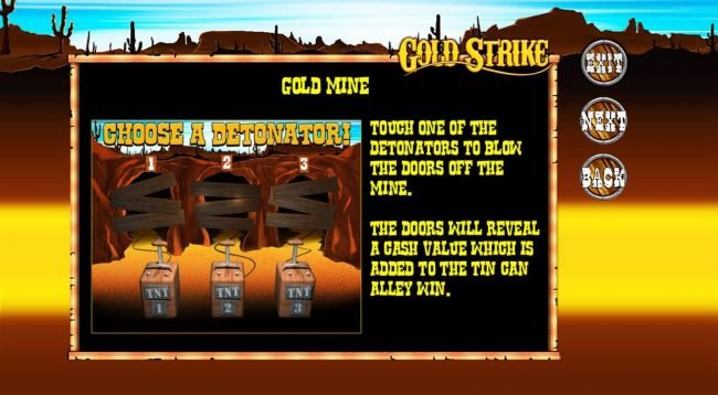 Slot Planet featuring the Video Slots Gold Strike with a maximum payout of $725,000