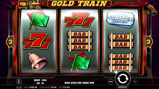 VipSpel featuring the Video Slots Gold Train with a maximum payout of $2,500