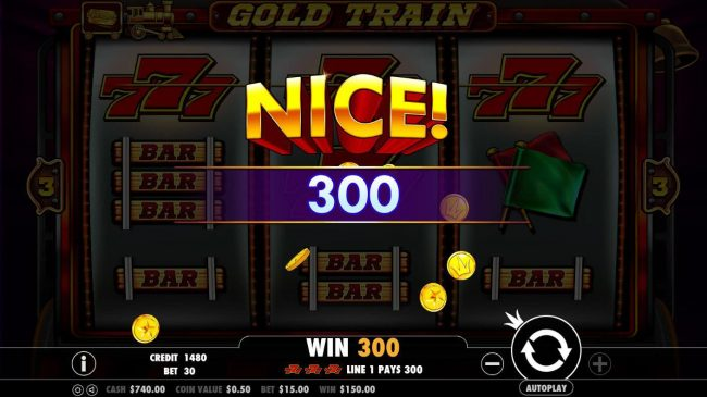 Casino States featuring the Video Slots Gold Train with a maximum payout of $2,500