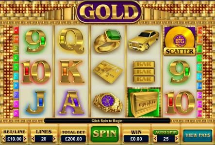 Karl Casino featuring the Video Slots Gold with a maximum payout of $25,000