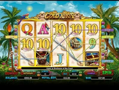 Winzino featuring the Video Slots Gold Ahoy with a maximum payout of $50,000