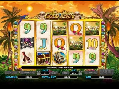Argo featuring the Video Slots Gold Ahoy with a maximum payout of $50,000
