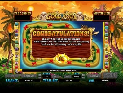 Enzo Casino featuring the Video Slots Gold Ahoy with a maximum payout of $50,000
