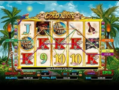 Casino Room featuring the Video Slots Gold Ahoy with a maximum payout of $50,000