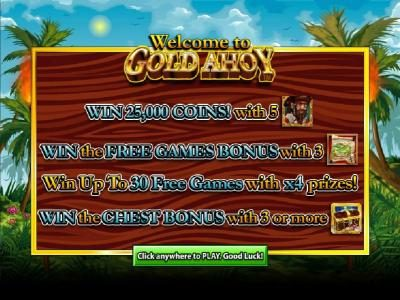 Zinger Spins featuring the Video Slots Gold Ahoy with a maximum payout of 25000x