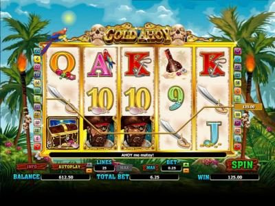 Casimba featuring the Video Slots Gold Ahoy with a maximum payout of 25000x