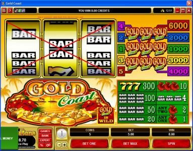 Royal House featuring the Video Slots Gold Coast with a maximum payout of $30,000