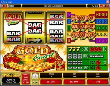 Casino Luck featuring the Video Slots Gold Coast with a maximum payout of $30,000