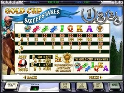 Video Poker Classic featuring the Video Slots Gold Cup with a maximum payout of $50,000