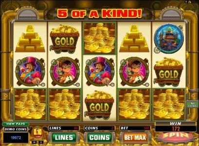 Next Casino featuring the Video Slots Gold Factory with a maximum payout of $25,000