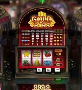 Videoslots featuring the Video Slots Gold in Bars with a maximum payout of $10,000
