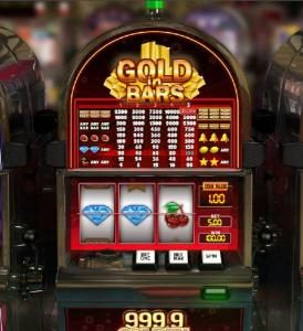 1BET featuring the Video Slots Gold in Bars with a maximum payout of $10,000