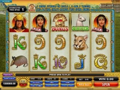 Play slots at Wixstars: Wixstars featuring the Video Slots Gold Of Machu Picchu with a maximum payout of $37,500