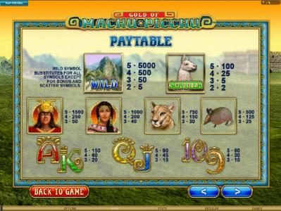 Play slots at BGO Vegas: BGO Vegas featuring the Video Slots Gold Of Machu Picchu with a maximum payout of $37,500