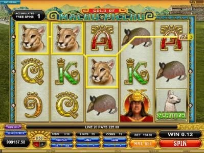 Play slots at Virtual City: Virtual City featuring the Video Slots Gold Of Machu Picchu with a maximum payout of $37,500