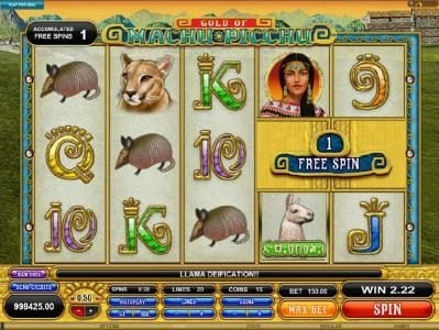 Winner Million featuring the Video Slots Gold Of Machu Picchu with a maximum payout of $37,500