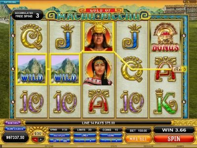 Tivoli featuring the Video Slots Gold Of Machu Picchu with a maximum payout of $37,500