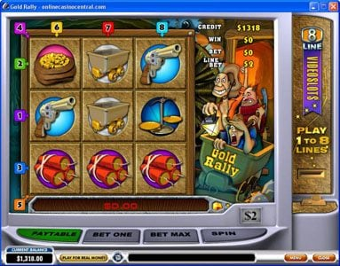 Play slots at Carnival: Carnival featuring the Video Slots Gold Rally with a maximum payout of Jackpot