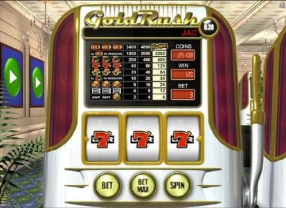 Wild Wild Bet featuring the Video Slots Gold Rush with a maximum payout of $960