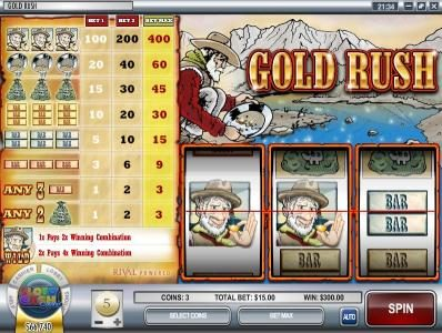 Play slots at 24 Vip: 24 Vip featuring the Video Slots Gold Rush with a maximum payout of $12,000