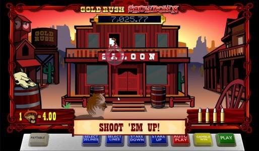 Casino Superlines featuring the Video Slots Gold Rush Showdown with a maximum payout of Jackpot