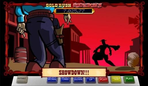 Spintropolis featuring the Video Slots Gold Rush Showdown with a maximum payout of Jackpot