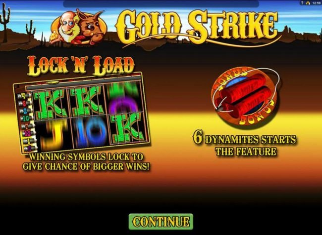 Play slots at Energy: Energy featuring the Video Slots Gold Strike with a maximum payout of $1,250