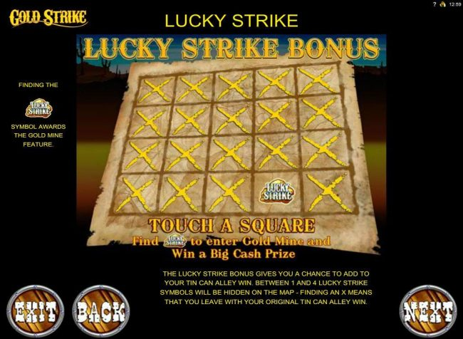 Lucky Strike Bonus Feature Rules