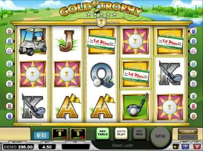 Casino Mate featuring the Video Slots Gold Trophy with a maximum payout of $250.