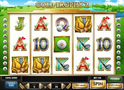 Play slots at Astralbet: Astralbet featuring the Video Slots Gold Trophy 2 with a maximum payout of $1,250