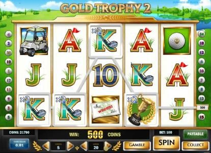 Astralbet featuring the Video Slots Gold Trophy 2 with a maximum payout of $1,250