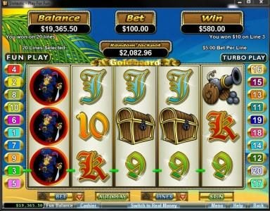 Play slots at Slots Inferno: Slots Inferno featuring the Video Slots Goldbeard with a maximum payout of $250,000