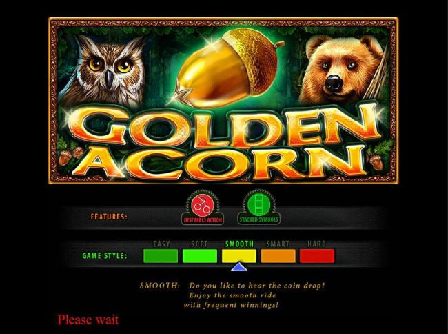 ZigZag777 featuring the Video Slots Golden Acorn with a maximum payout of $200,000