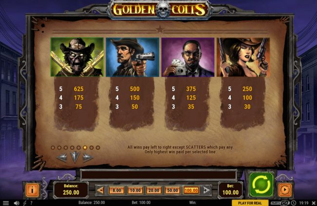 Play slots at Casino Luck: Casino Luck featuring the Video Slots Golden Colts with a maximum payout of $250,000