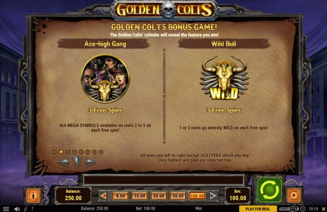 Astralbet featuring the Video Slots Golden Colts with a maximum payout of $250,000