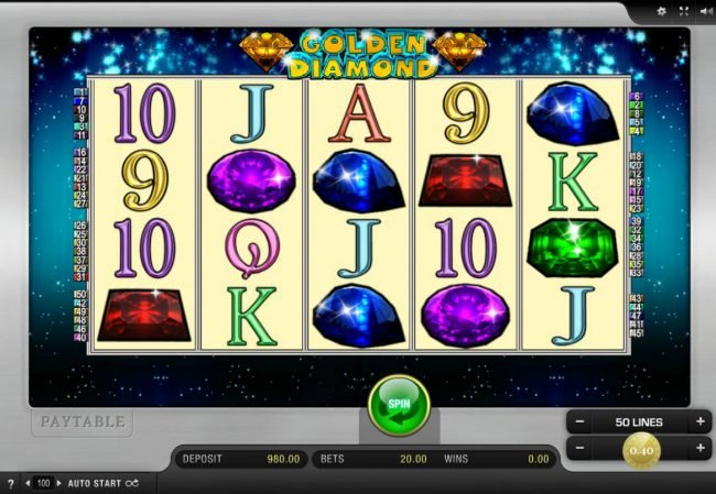 Slot Planet featuring the Video Slots Golden Diamond with a maximum payout of $16,000