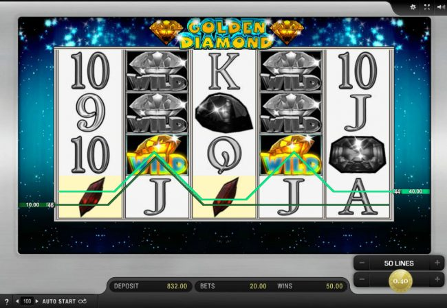 Leo Vegas featuring the Video Slots Golden Diamond with a maximum payout of $16,000