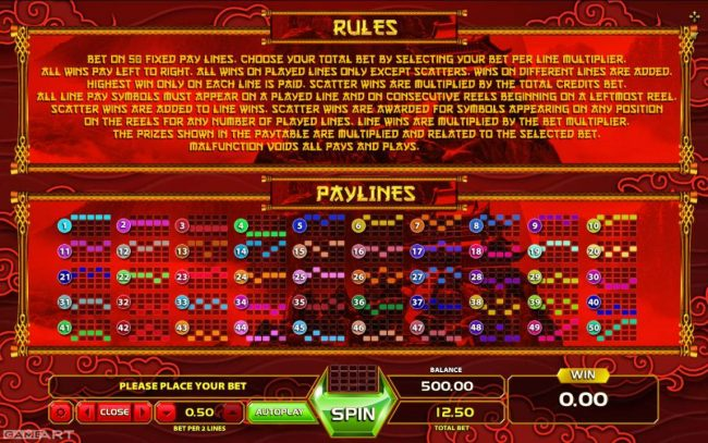 Play slots at Africa Casino: Africa Casino featuring the Video Slots Golden Dragon with a maximum payout of $25,000