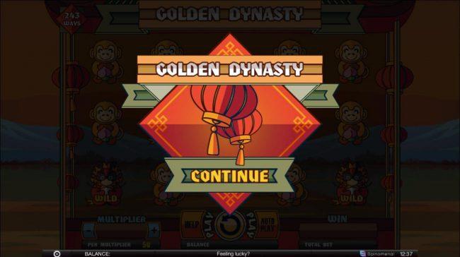 Golden Dynasty :: Splash screen - game loading