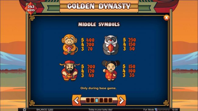 Superior featuring the Video Slots Golden Dynasty with a maximum payout of $20,000