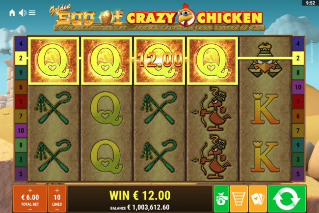 Golden Egg of Crazy Chicken :: Four of a kind
