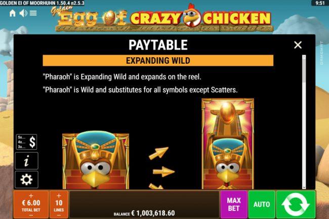 Golden Egg of Crazy Chicken :: Wild Symbol Rules