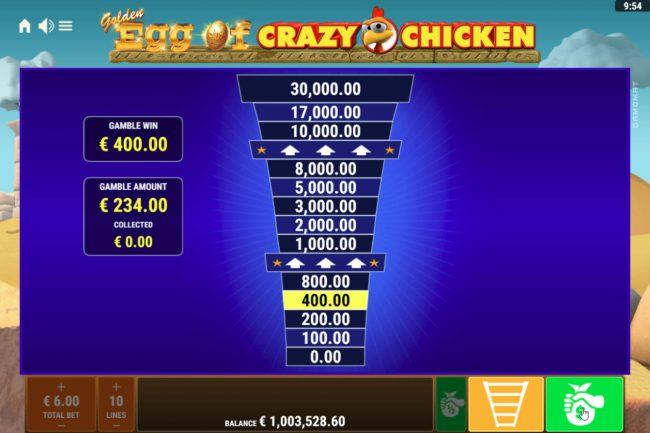 Golden Egg of Crazy Chicken :: Ladder Gamble Feature Game Board