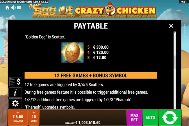 Golden Egg of Crazy Chicken :: Free Game Rules