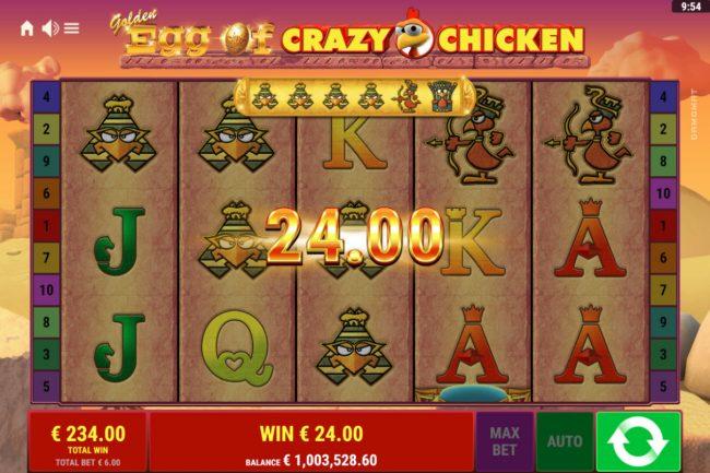 Golden Egg of Crazy Chicken :: Multiple winning paylines