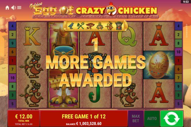 Golden Egg of Crazy Chicken :: Free Spins Game Board