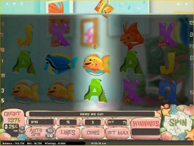 Betchan featuring the Video Slots Golden Fish with a maximum payout of $150,000