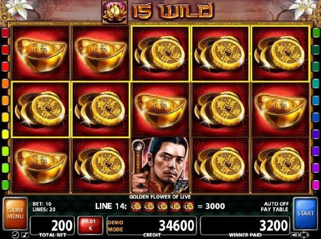 Slots Million featuring the Video Slots Golden Flower of Life with a maximum payout of $450,000
