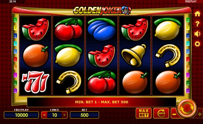 Play slots at Hyper Casino: Hyper Casino featuring the Video Slots Golden Joker with a maximum payout of $75,000