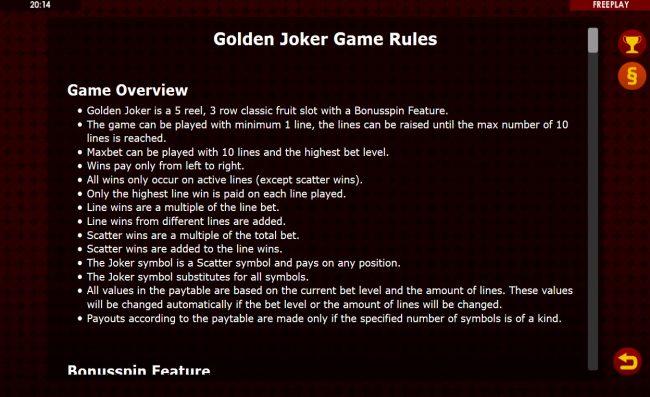 Golden Joker :: General Game Rules